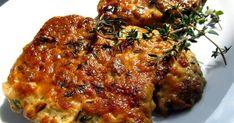 Plátky krkovice pečené se šlehačkou, dijonskou hořčicí, balsamikovým octem a tymiánem       600 - 700 g vepřové krkovice bez kosti  200 g 40...