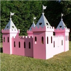 how to build a cardboard castle playhouse - Google Search