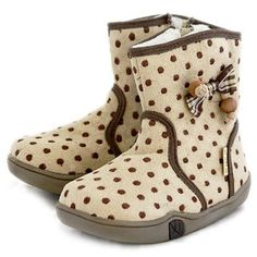 Brown Dot Winter Boots