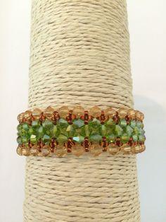 Swarovski Crystal  Bracelet. Swarovski  Topaz  by ChantalJewelry