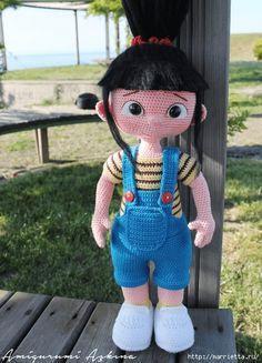Как связать крючком ручки с пальчиками для куклы (3) (444x617, 201Kb)