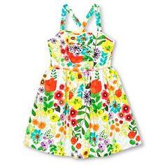 Girls' Floral Print Dress White - Cherokee™