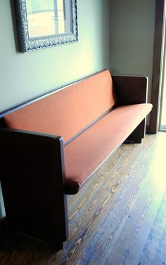 Spunky Junky: Reupholstering the church pew...