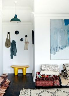 The playful charm of the wooden stool in African style