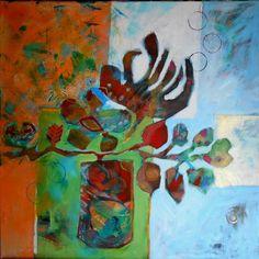 Peinture acrylique et collages par Suzannepeint.