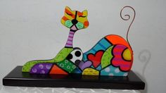 Country painting britto cat