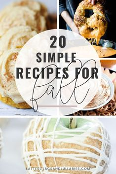 Autumn just might be my favorite time to cook and bake. Here are 20 of our favorite, simple fall recipes that the entire family loves. Easy Pumpkin Pie, Pumpkin Cookies, Pumpkin Spiced Latte Recipe, Pumpkin Spice Latte, Cinnamon Pull Apart Bread, Candied Almonds, Cinnamon Donuts, Pumpkin Pie Cheesecake, Starbucks Pumpkin