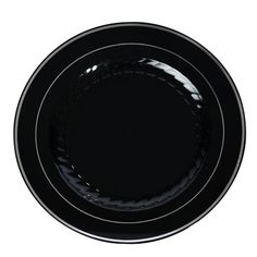 10 Inch Plastic Plates in Black with Silver Rim/Case of 120 Tags Dinner  sc 1 st  Pinterest & Simcha Collection 10 inch Clear Plastic Plates/Case of 120 ...