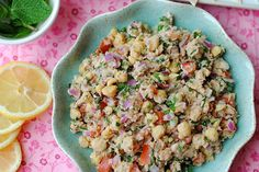 Lemony Chickpea and Tuna Salad   Eat Yourself Skinny