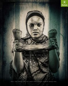 Oxfam Imprisoned By The Truth Ads by Hatari, Nairobi, Kenya. Imprisoned by the truth. Only the truth will set them free. Report gender abuse now. Clever Advertising, Print Advertising, Advertising Campaign, Print Ads, Gender Studies, Barbie, Black Artwork, Domestic Violence, Oeuvre D'art
