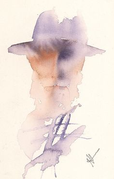 Jean Haines Teaches Us How to Paint Loose, Expressive Watercolors Watercolor Face, Watercolor Artists, Watercolor Portraits, Watercolour Painting, Painting & Drawing, Watercolours, Figure Sketching, Creative Portraits, Portrait Art