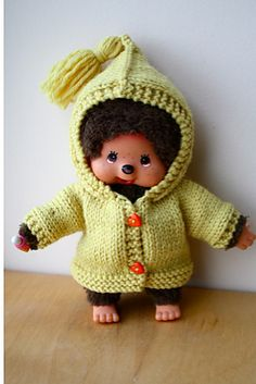 Sport doll Ravelry: Mini-Corolle Coat pattern by Charlotte Bouchet Coat Patterns, Clothing Patterns, Knitting Patterns, Crochet Patterns, Doll Toys, Baby Dolls, Small Teddy Bears, Knit Crochet, Crochet Hats