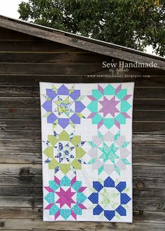 swoon quilt on a barn - jodie bissig at www.sew-handmade.blogspot.com
