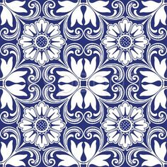Stock Illustration of sem costura azulejos ornamento colorido