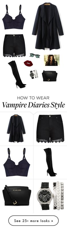 """""""Body Heat ❤"""" by francyrizzo on Polyvore featuring STELLA McCARTNEY, City Chic, Kendall + Kylie, Ray-Ban, Lime Crime, Michael Kors and plus size clothing"""