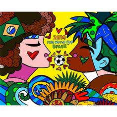 2014 Brasil FIFA britto 021 Brasils Romero Britto And His Art For The World Cup Watch