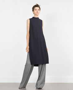 TUNIC WITH SIDE SLITS-View all-Dresses-WOMAN | ZARA United States
