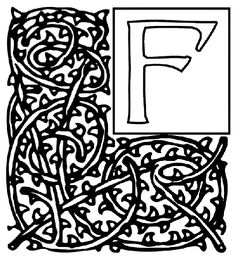 Alphabet Garden F coloring page