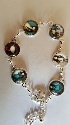 Bracelet cabochon poupee