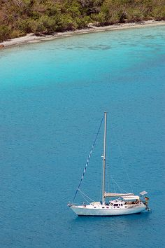 Sailboat in the US Virgin Islands