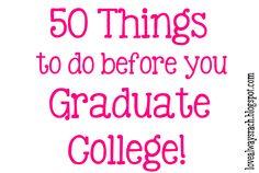 Love Always, Rach: College Graduation Bucket List