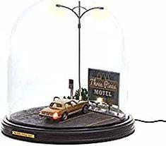 Nachttischlampe Tischleuchte Nachtlampe 39 cm x Ø 14,5 cm Braun E27 KHG