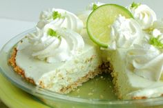No-Bake Key Lime Pie ~ 14-oz can sweetened condensed milk, 8-oz cream cheese at room temperature, ½ cup key lime juice fresh or bottled, 2 tsp fresh lime zest #dessert