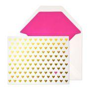 gold hearts.  sugar paper.