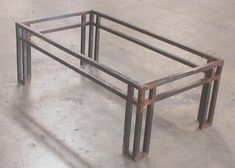 Rustico Modern Wrought Iron Coffee Table Base