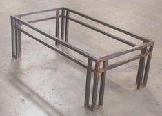 Rustico modern wrought iron coffee table base