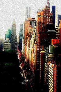 great grainy cityscape