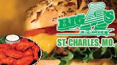 $22 worth of American fare & drinks from Big A's in St. Charles for just $11