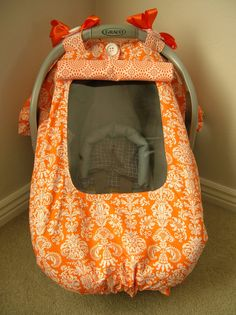 Infant car seat cover, tent, canopy with window (Pink Aint My thing) on Etsy, $49.00