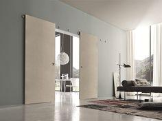 Descarga el catálogo y solicita al fabricante Bluinterni los precios de puerta corrediza de madera B-move multy, colección B-move