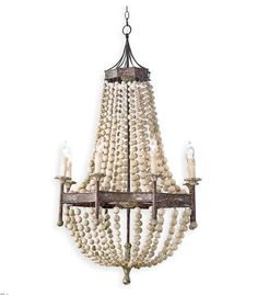 Regina andrew beaded wood chandelier pinterest coastal beach style creates the perfect compliment to sunny days sand dunes and salty air mozeypictures Images