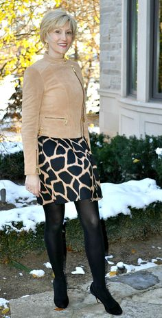 Suede- see more about how it's new this spring and looks great paired with animal prints.