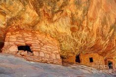 anerican indian ruins   House On Fire Anasazi Indian Ruins by Gary Whitton