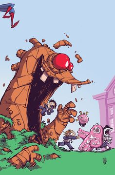 Spider-Man and The X-Men Variant. This one is among my favorites so far.- Skottie Young