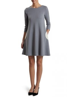3/4 Sleeve Circle Dress | Lisa Perry Circle Pocket Dresses | Lisa Perry