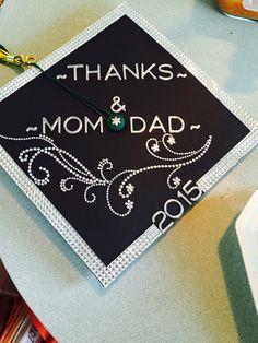 """Thanks Mom & Dad"" Graduation Cap✨"