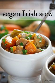 My simple vegan Irish stew is perfect for hungry tums, made with a handful of staple ingredients, and can be cooked on the hob or in a slow cooker. Super Healthy Recipes, Easy Healthy Dinners, Vegan Recipes Easy, Vegan Slow Cooker, Slow Cooker Recipes, Soup Recipes, Fish Recipes, Irish Stew, Vegan Dishes