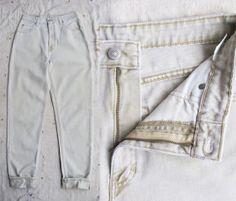 vintage c. 1980s-90s super faded khaki high waist Banana Republic jeans s m  by MouseTrapVintage, $42.00