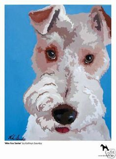 Limited Edt 'Wire Fox Terrier' Print by Kathryn Saunby