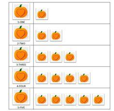 Pumpkin Playdough Mat Numbers 1_5