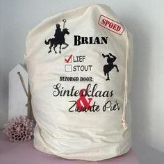 <mark>Sinterklaas</mark> kado zak.    Mooie grote katoenen zak voor…