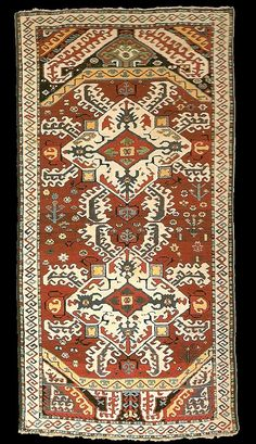 """Antique Karabagh """"Kasim Ushag"""" rug, late 19th century, Elisabethpol Governorate Zangezur Uyezd."""