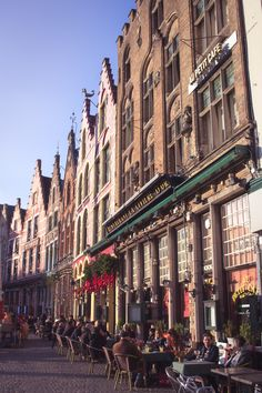 View Markt in Brugge (Bruges), Belgium in winter for Christmas