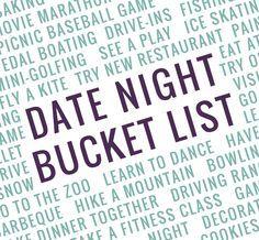 Date Night Bucket List