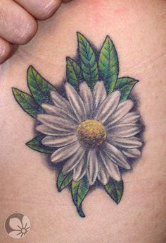 daisy flower tattoo קעקוע פרח חרצית « Spring Tattoo ...