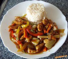 ☺Čína-Kuřecí se zeleninou(na čínský způsob)☺ Food And Drink, Cooking Recipes, Beef, Treats, Chicken, Breakfast, Tips, Diet, Asia